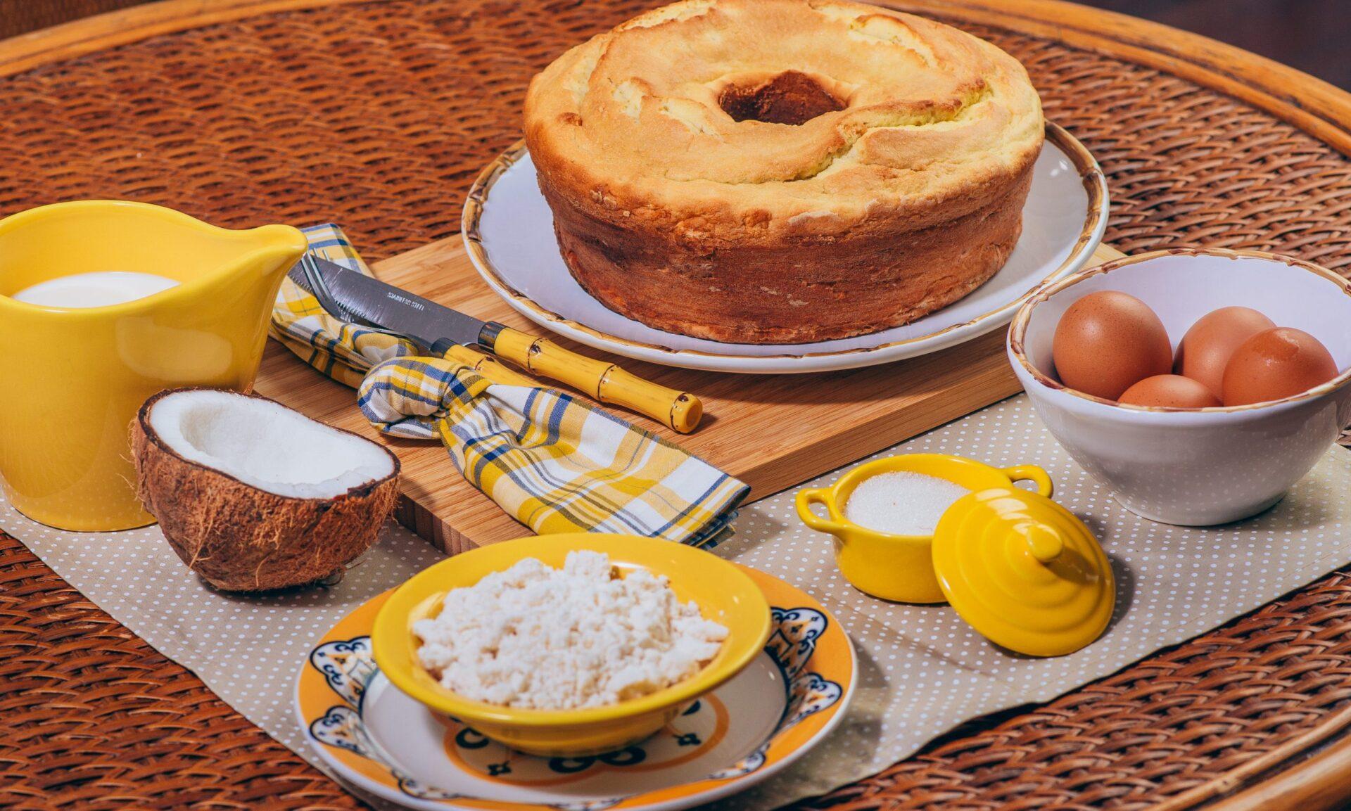 bolo de massa de mandioca